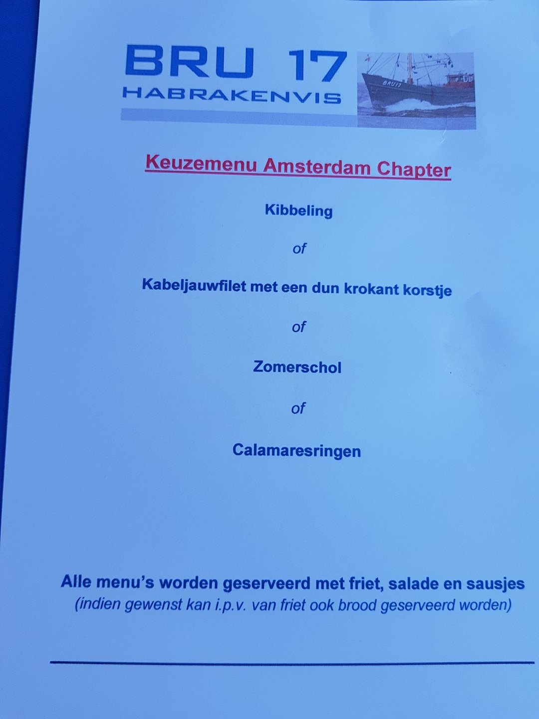 het 13FF13 lunch menu